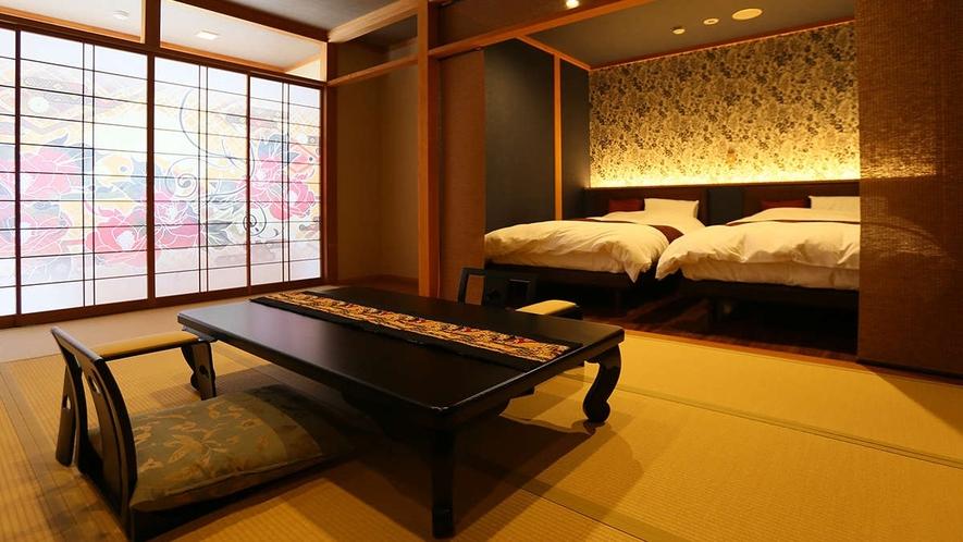 ■展望露天風呂付き特別室12畳+ツイン<和洋室>一例
