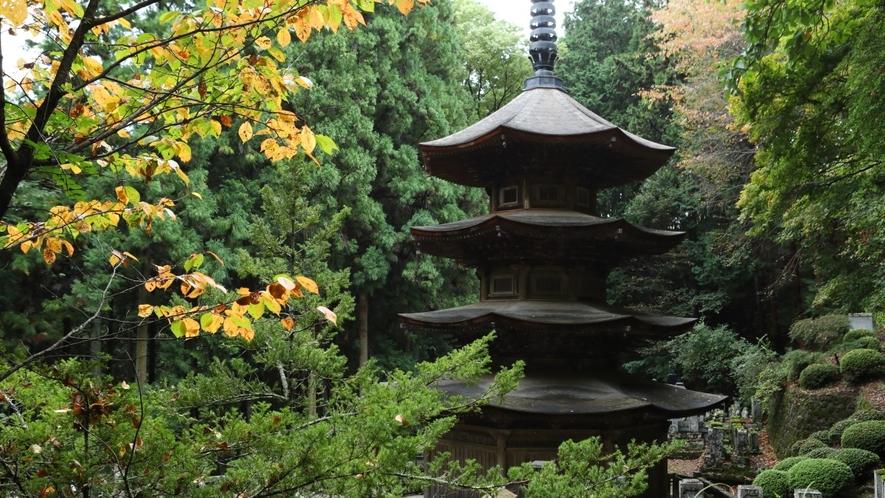 ■長野県最古の禅寺「安楽寺」当館より徒歩3分