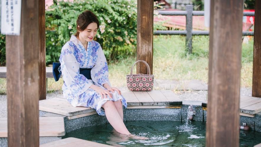 ■足湯ななくり 別所温泉にある足湯ななくりは当館より徒歩5分