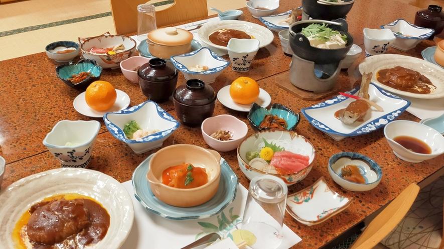 連泊夕食(2泊目・一例)