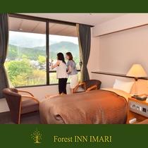 フォレストガーデン・ツインのお部屋からは四季の移ろう自然の景色を楽しめます♪