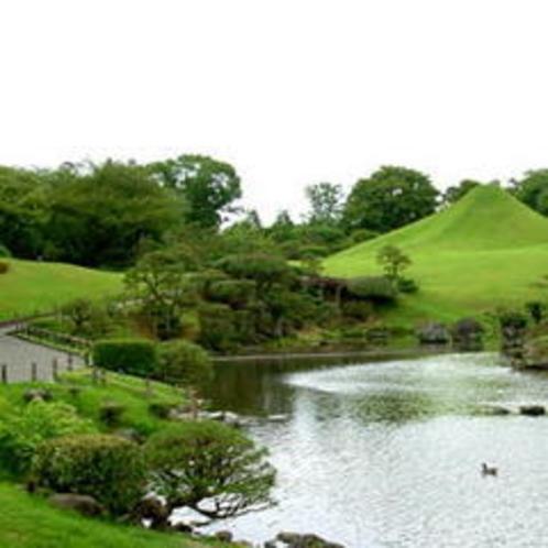 【水前寺公園】お車約30分♪おおよそ360年前に造られた庭園です。