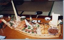 お刺身舟盛例