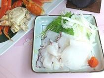【タコしゃぶ】コリコリした食感にタコの甘みが堪能できる稚内の名物料理です。