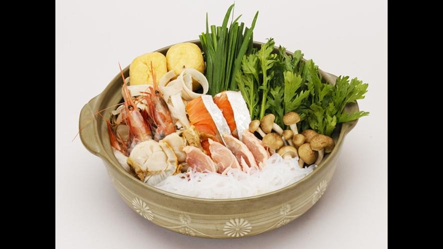 【ちゃんこ鍋】海の幸たっぷりのちゃんこ鍋☆塩味またはしょうゆ味でご用意※ご予約時にお選びください。