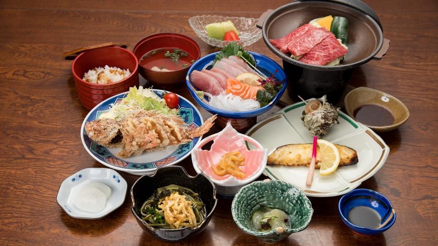 *【夕食/スタンダード】壱岐の魅力がたっぷり!ボリューム満点の会席料理です♪