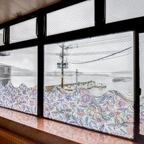 *【大浴場】大浴場の大きな窓からは印通寺港が一望できます!