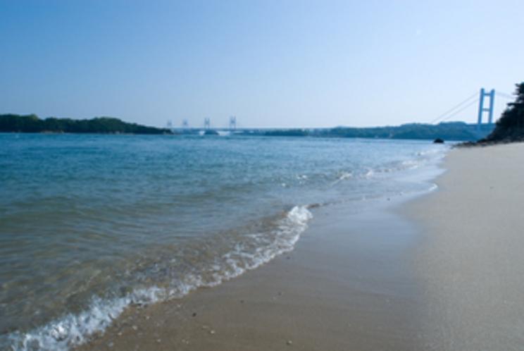 ホテル前の砂浜