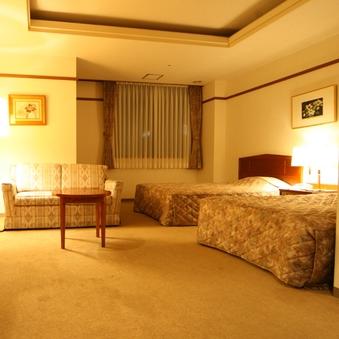【禁煙】デラックスツイン★ベッド幅120cm+ソファベッド