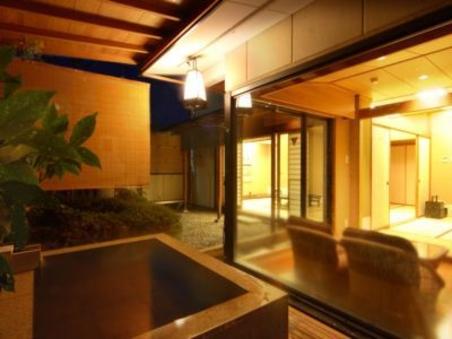 露天風呂付客室★12畳+6畳+応接室+坪庭