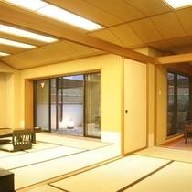 和室★12畳+6畳+応接室+坪庭(バストイレ付)