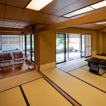 ●和室★12畳+6畳+応接室+坪庭(バストイレ付)