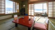 【諏訪湖一望◇湖側】諏訪湖を正面に望むことが出来る絶景のお部屋。
