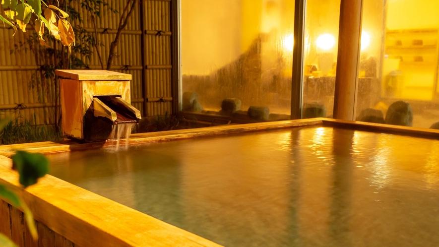 【露天風呂】源泉かけ流し!14時~24時 朝5時~10時の間ご利用可能。