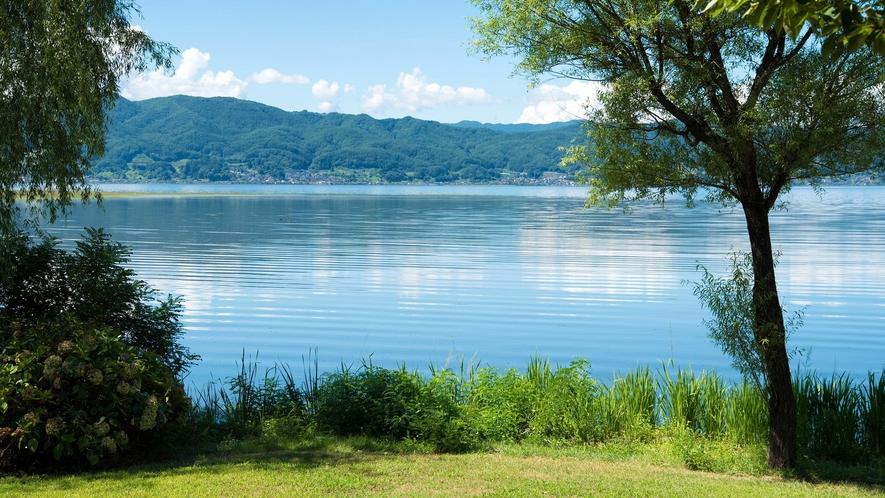 ご朝食前に諏訪湖周辺のウォーキングはいかがですか。