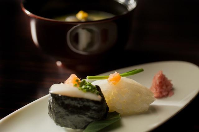 天然とらふぐフルコース 握り寿司