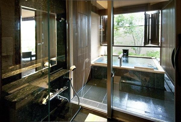 客室露天風呂(シャワーブース付以外のお部屋)