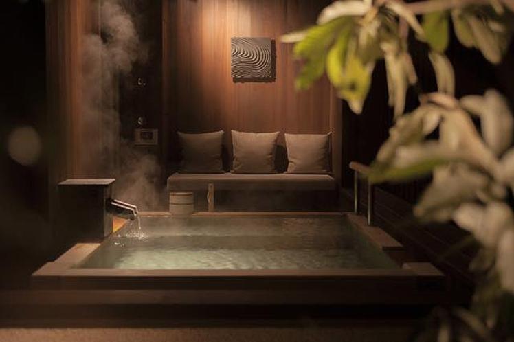 客室露天風呂(源泉かけ流し)