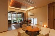 露天風呂付テラス付和洋室(55平米)・1階(D)