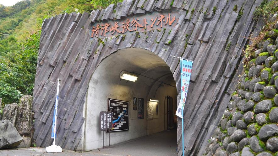 【清津峡】トンネル内は往復で1500mあります。暖かい服装でお出かけください。