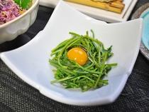 【夕食】山菜料理(一例)
