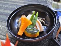【夕食】季節の煮物。
