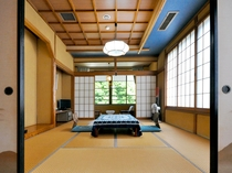 【和室16畳(トイレなし)】10畳と6畳の二間続きのお部屋でございます。