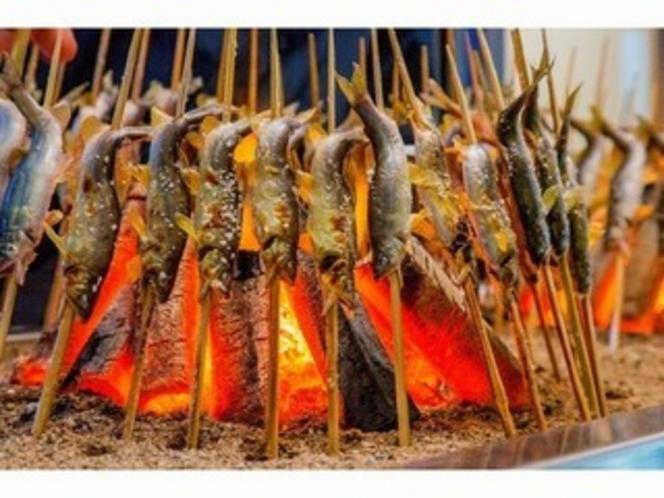 鮎の炭火焼