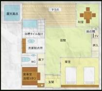 2部屋とも同じつくりとなっております。