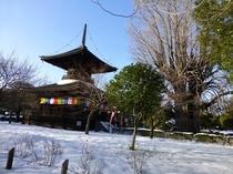 雪のばん阿寺 多宝塔