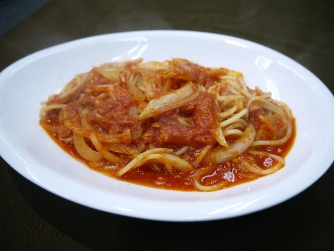 ツナとトマトのスパゲッティ