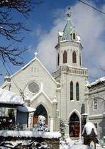 冬の元町カトリック教会
