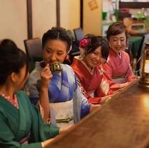 【山鹿観光】アンティークを着て飲むコーヒーは格別です/着物レンタル・着付けは柏屋藤右衛門さんにて