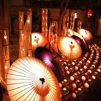 【イベント】 山鹿番傘と竹灯りが愉しめる「百華百彩」は2月の毎週金・土曜に開催されます