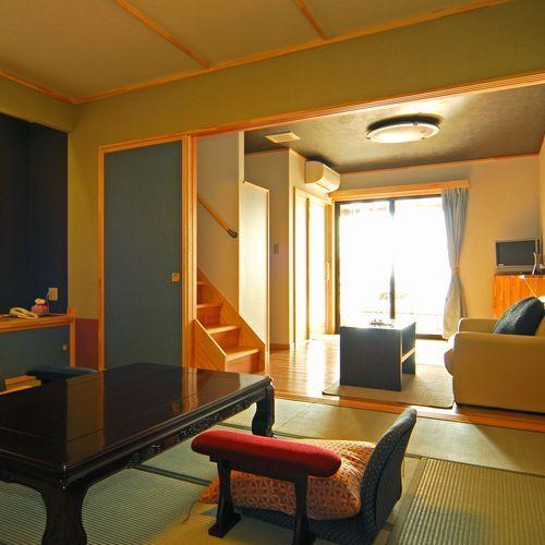 別邸 華海廊 和室とフローリングのリビングスペースでゆったり