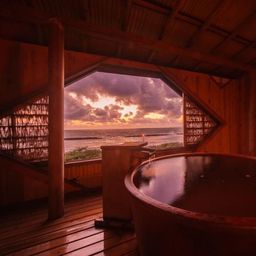 美しい夕景をを独り占め 貸切露天風呂