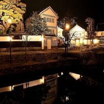 美観地区 夜間