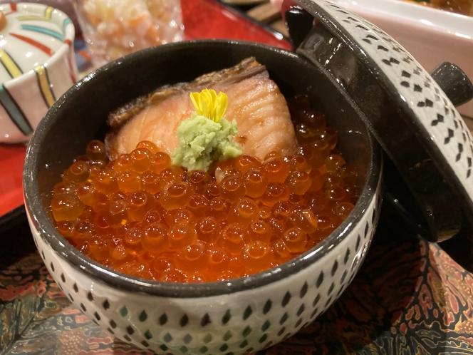 鮭づくしプラン(鮭の親子丼)