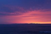佐渡へ沈む夕日