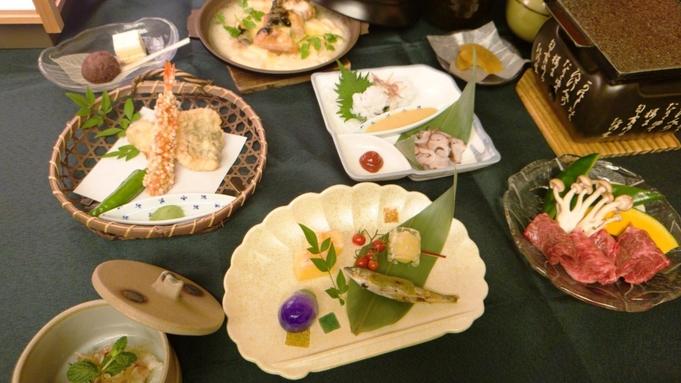 【さき楽28】四季彩々 北海大和遊膳★新鮮なお刺身・お肉・天ぷらなど自慢の料理に舌鼓【1泊2食】