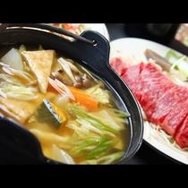 人気料理『溶岩焼き』と郷土料理『ほうとう』