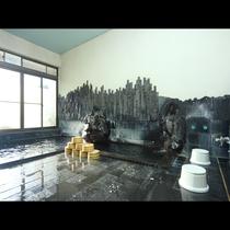 富士山の溶岩にはミネラルが豊富に含まれています。当館のお風呂はそんな溶岩を贅沢に敷き詰めた溶岩風呂で