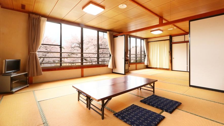 12+15畳二間◆季節によって桜や新緑を眺められます