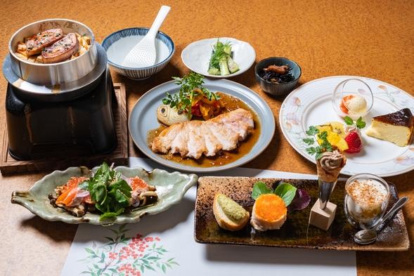★女将にお任せ★釜飯と貸切露天風呂★デザート3種&朝食はクロックムッシュとスムージー3種のサラダ