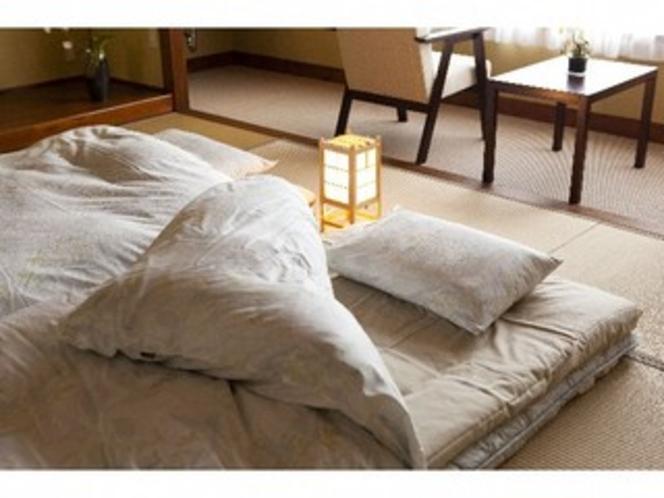ふかふかの布団で心地よい眠りを