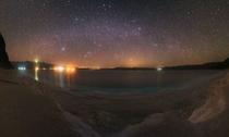 湖上空のパノラマ