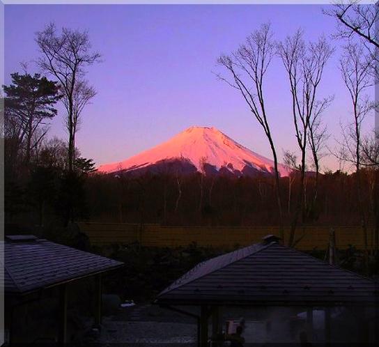 紅富士の湯 露天風呂からの紅富士
