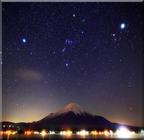 山中湖の冬の星座