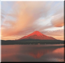 紅富士と虹