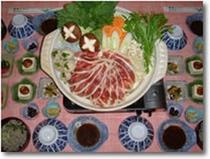 夕食の一例(鴨鍋)